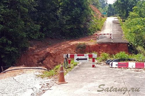 Обрушение дороги Лонг бич