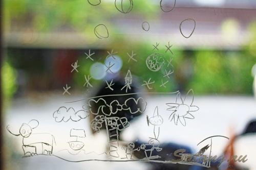 рисунки на стекле сатанг