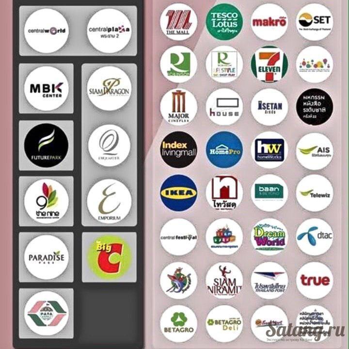 График работы магазинов Таиланд